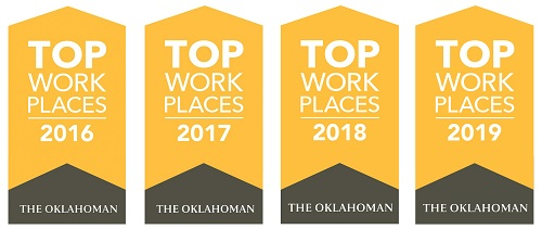Science Museum Oklahoma Top Workplaces Badges 2016-2019