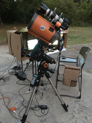Catadioptric telescope. Photo by Tom Arnold.