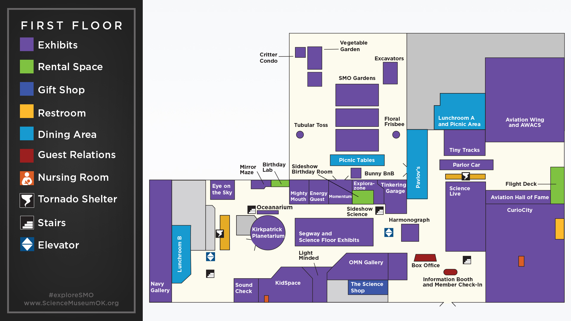 Museum Map | Science Museum Oklahoma on laumeier sculpture park map, forest park map, st louis science center map, airport map, navy pier map, soulard neighborhood map, saint louis university map, scottrade center map,