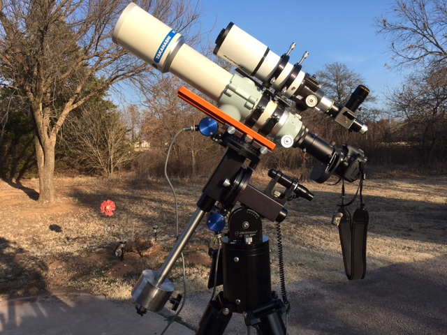 Refractor telescope. Photo by Tom Arnold.