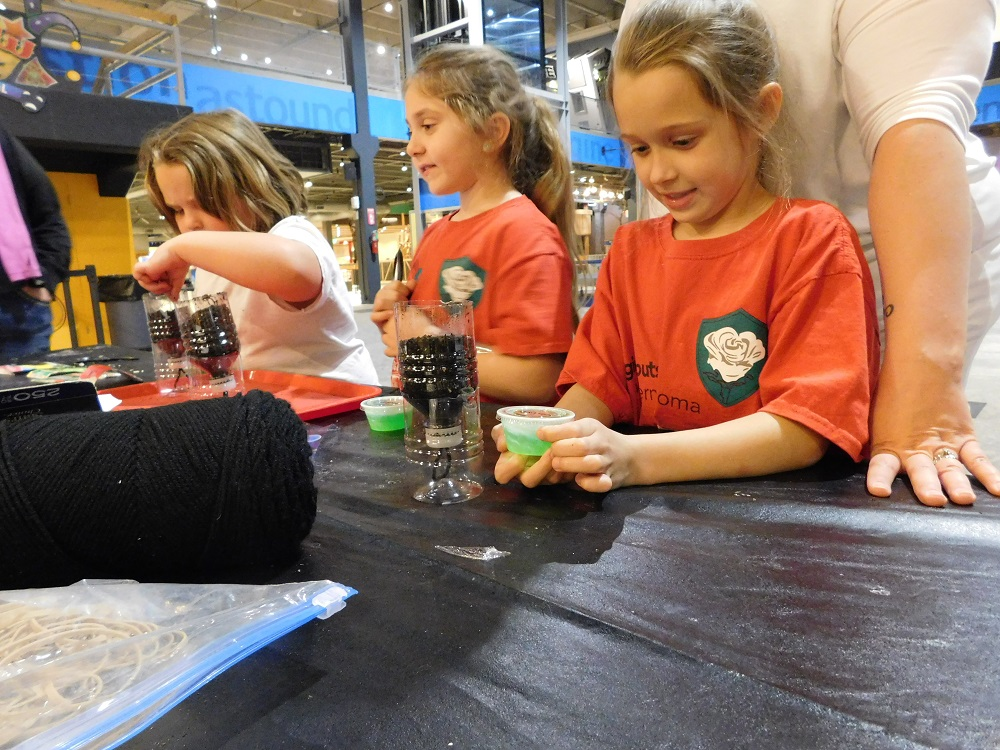 girl scouts at science museum oklahoma