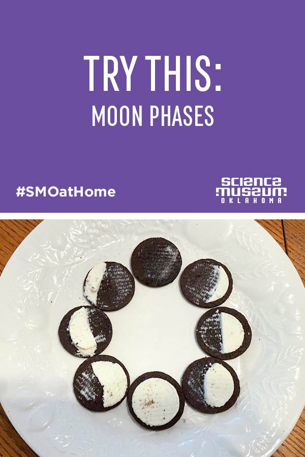 Moon phases with a cookie