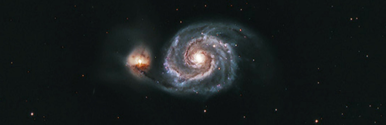 M51 Galaxy Photo By Tom Arnold