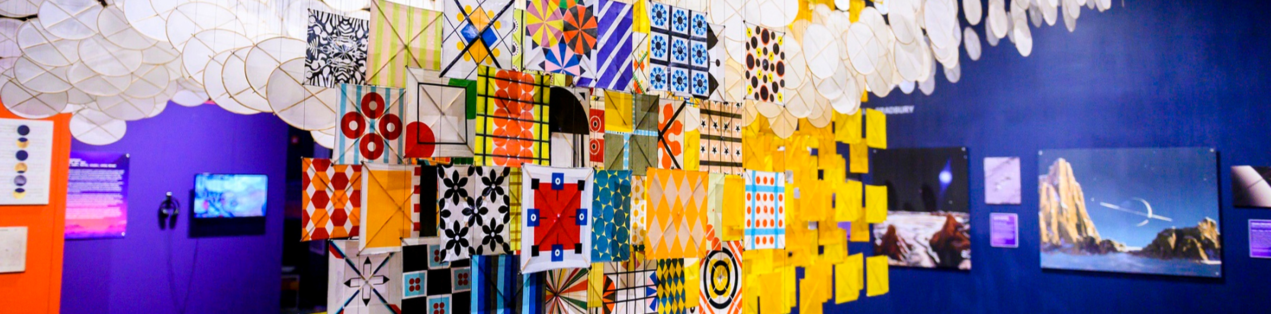 """Jacob Hashimoto's """"The Other Sun"""" at Science Museum Oklahoma"""