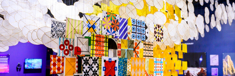"Jacob Hashimoto's ""The Other Sun"" at Science Museum Oklahoma"