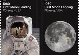 USPS First Moon Landing stamp