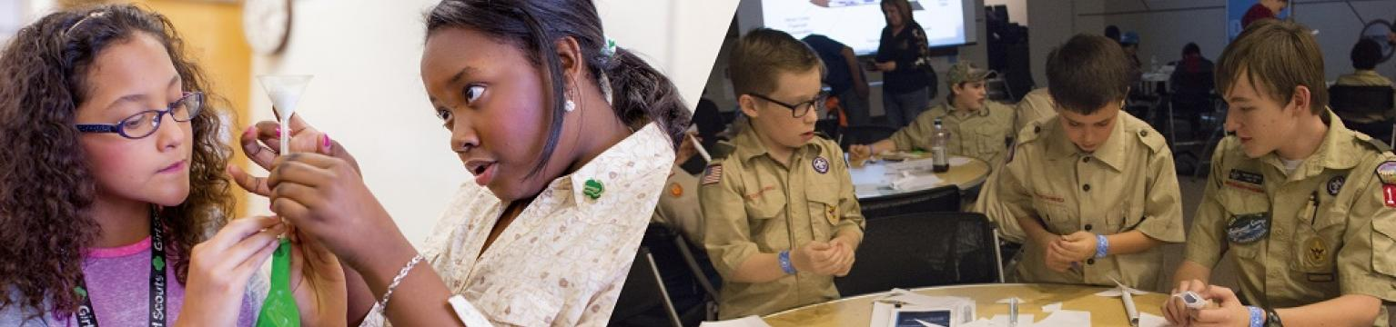 Scouts at Science Museum Oklahoma